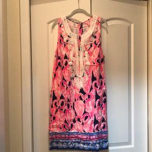 NWT LilyP Size 14 Flamingo Dress